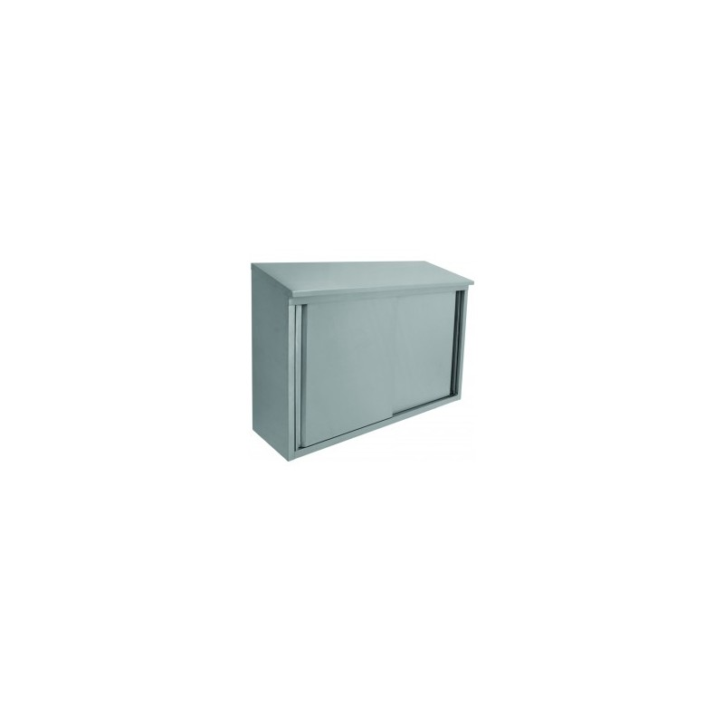 Stainless Steel Slope Top Wall Cabinets Sliding Doors Loading Zoom
